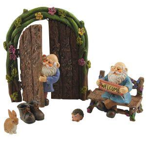 Miniature Gnome Figurines Door Starter Kit